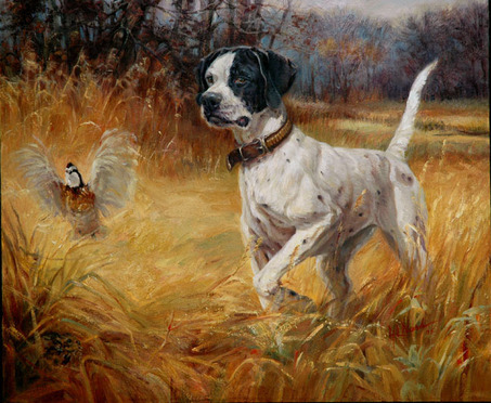 Pointer_flushing_quail